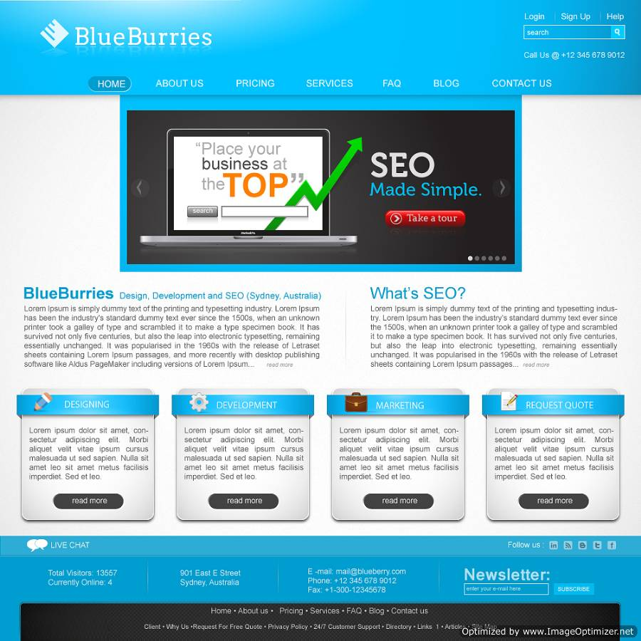 Website homepage design and web design solutions by for Home design website free